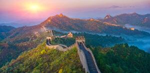 Veduta della muraglia cinese